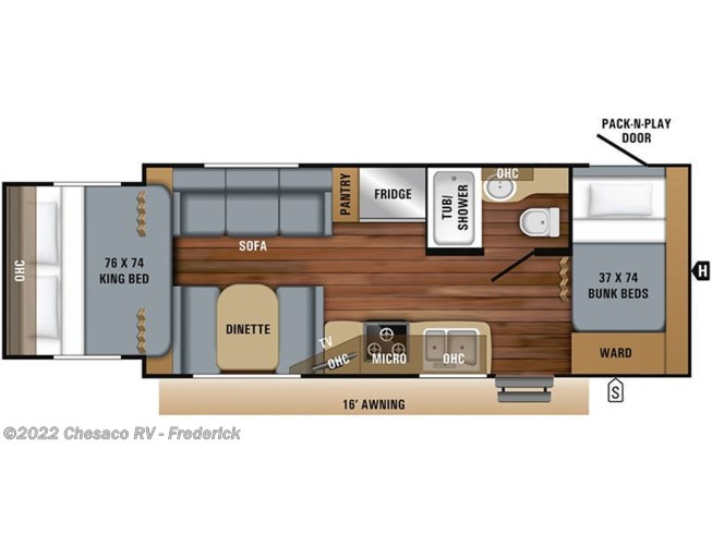2019 Jayco Jay Feather X213 floorplan image