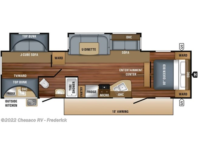 2019 Jayco Jay Flight 32BHDS floorplan image