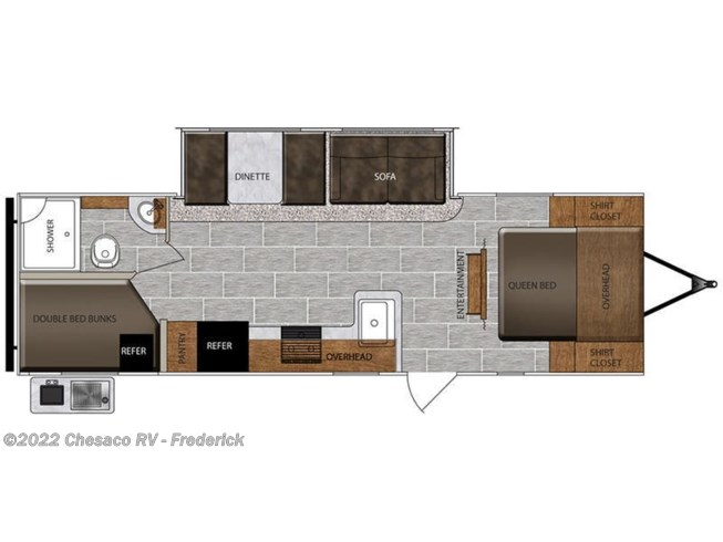 2019 Prime Time Tracer Breeze 26DBS floorplan image