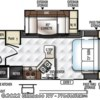 2017 Forest River Rockwood Mini Lite 2507S floorplan image