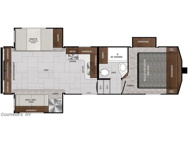 2018 Forest River Impression 26RET floorplan image