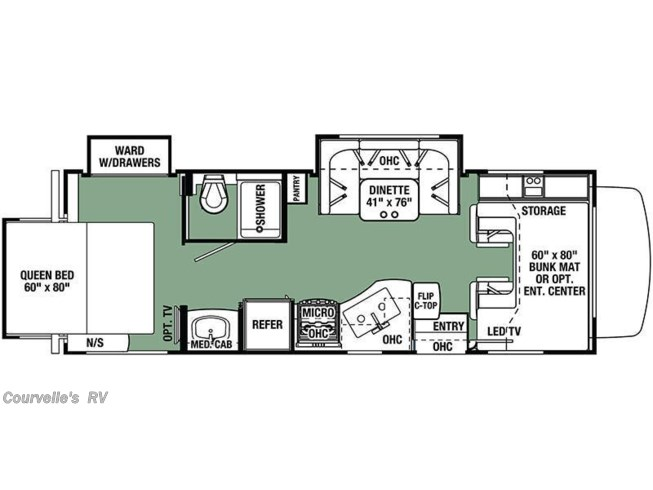 Floorplan of 2018 Forest River Forester 2501TS