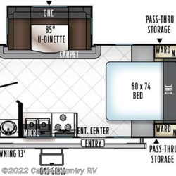 2018 Forest River Flagstaff Micro Lite 21DS floorplan image