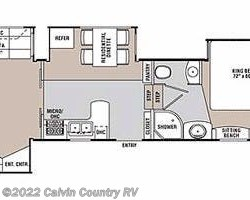 2009 Coachmen Wyoming 338 RLQS floorplan image