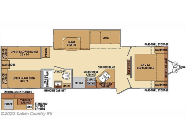 Floorplan of 2019 Shasta Shasta 31OK