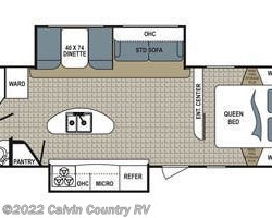 2015 Dutchmen Kodiak 276BHSL floorplan image