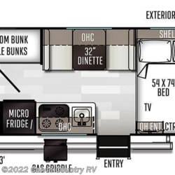 2020 Forest River Flagstaff E-Pro E19BH floorplan image