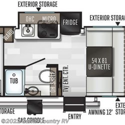 2020 Forest River Flagstaff E-Pro E16BH floorplan image