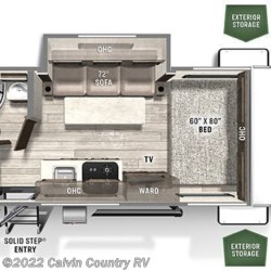 2021 Forest River Flagstaff E-Pro E19FBS floorplan image