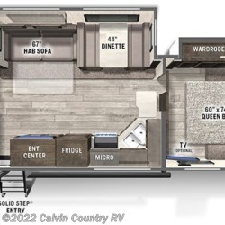 2021 Forest River Flagstaff Super Lite 26RBWS floorplan image