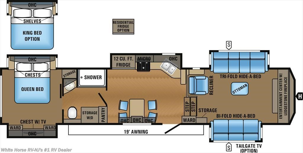 ... 2017 Jayco North Point 383FLFS Front Living Room W/Five Slideouts    Fifth Wheel New White Horse RV ...