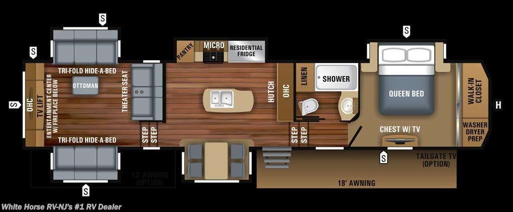 #J11779 - 2018 Jayco North Point 387RDFS Rear Living Room Five Slides for  sale in Williamstown NJ