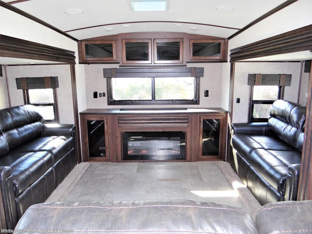Fifth wheel new in williamstown white horse rv center williamstown 2018 north point 387rdfs rear living room five slides