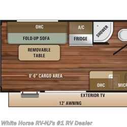 2018 Starcraft Autumn Ridge Outfitter 17TH Toy Hauler floorplan image