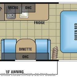 2017 Jayco Jay Flight SLX 195RB Front Walk-Around Queen Bed, Rear Bath floorplan image