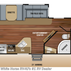 2019 Jayco White Hawk 31BH 2-BdRM Double Slide w/ Outside Kitchen  - Travel Trailer New  in Williamstown NJ For Sale by White Horse RV Center (Williamstown) call 877-297-2166 today for more info.