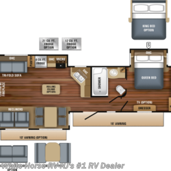 2019 Jayco Eagle 338RETS Rear Entertainment Triple Slideout  - Travel Trailer New  in Williamstown NJ For Sale by White Horse RV Center (Williamstown) call 877-297-2166 today for more info.