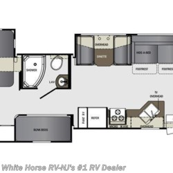 2016 Forest River Georgetown 364TS 2-BdRM Triple Slide w/Bunks floorplan image