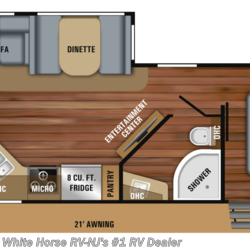 2019 Jayco White Hawk 28RL Rear Lounge Sofa/Dinette Slideout  - Travel Trailer New  in Williamstown NJ For Sale by White Horse RV Center (Williamstown) call 877-297-2166 today for more info.