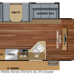 New 2019 Jayco Jay Feather 27BH Two-Bedroom Sofa/Dinette Slideout For Sale by White Horse RV Center (Williamstown) available in Williamstown, New Jersey