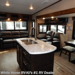 White Horse RV Center (Williamstown) 2019 Eagle HT 28.5RSTS Rear Sofa Living Room Triple Slide  Fifth Wheel by Jayco | Williamstown, New Jersey