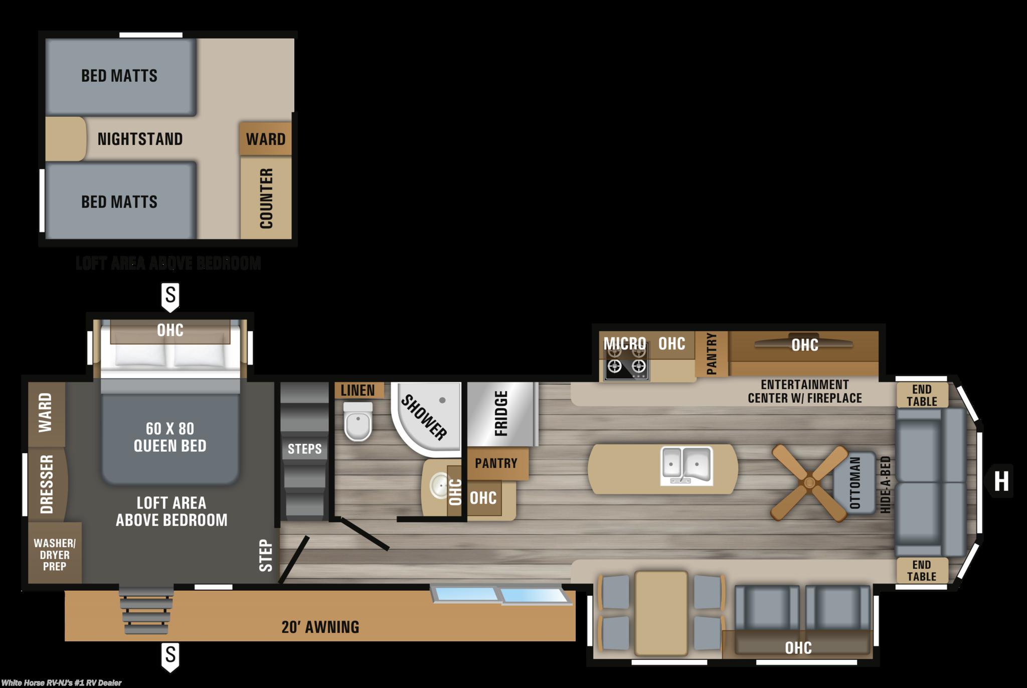Bu1968164 2019 Jayco Bungalow 40loft Front Living Room Triple 2006 Pace Arrow Slide Out Wiring Diagram Next