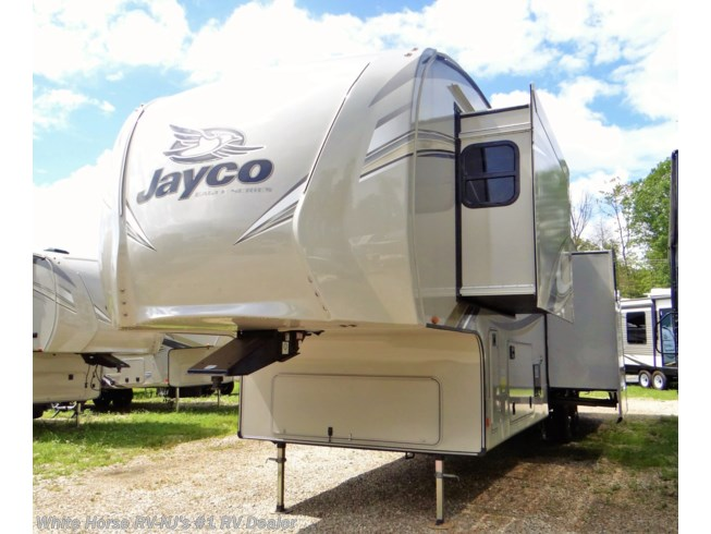 New 2019 Jayco Eagle 355MBQS Rear Lounge 2-BdRM & Loft Bed Quad Slide available in Williamstown, New Jersey