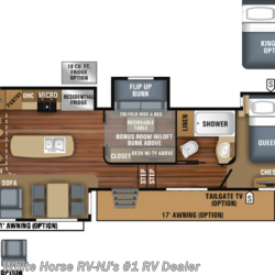 New 2019 Jayco North Point 377RLBH Rear Lounge Two Bedroom Quad Slide For Sale by White Horse RV Center (Williamstown) available in Williamstown, New Jersey