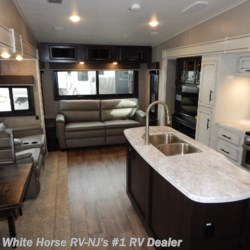 White Horse RV Center (Williamstown) 2019 Eagle HT 30.5CKTS Rear Sofa Center Is. Kitchen Triple Slide  Fifth Wheel by Jayco | Williamstown, New Jersey
