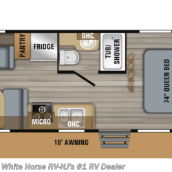 2019 Jayco Jay Flight 21QB Front Queen Rear Sofa & Dinette  - Travel Trailer New  in Williamstown NJ For Sale by White Horse RV Center (Williamstown) call 877-297-2166 today for more info.