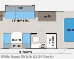2011 Jayco Jay Feather Select 242 Sofa/Bed Slide, Rear Kitchen floorplan image