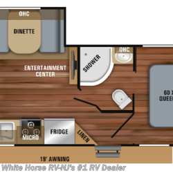 2019 Jayco Jay Feather 24RL Dinette Slide, Front Queen, Rear Sofa/Bed  - Travel Trailer New  in Williamstown NJ For Sale by White Horse RV Center (Williamstown) call 877-297-2166 today for more info.
