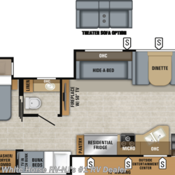 2019 Jayco Precept Prestige 36B 2-BdRM Triple Slide, 1 & 1/2 Baths  - Class A New  in Williamstown NJ For Sale by White Horse RV Center (Williamstown) call 877-297-2166 today for more info.