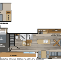 2019 Jayco Bungalow 40LOFT Front Living Room Triple Slideout w/Loft  - Destination Trailer New  in Williamstown NJ For Sale by White Horse RV Center (Williamstown) call 877-297-2166 today for more info.