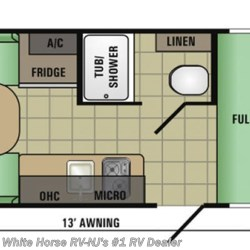 2017 Starcraft Autumn Ridge Mini 17RD Front Bed, Rear Dinette floorplan image