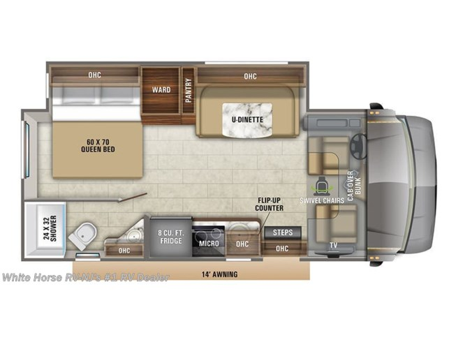 Floorplan of 2020 Jayco Melbourne 24L  Rear Bedroom Full Wall Slide