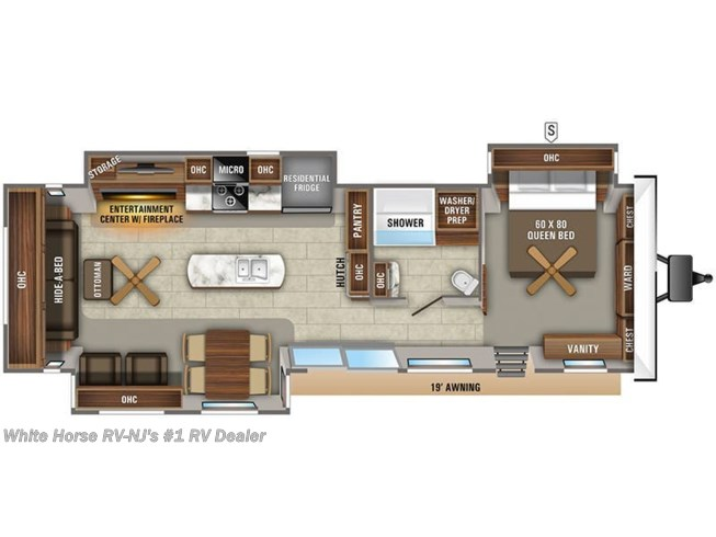 Floorplan of 2021 Jayco Jay Flight Bungalow 40RLTS