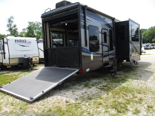 Used 2016 Keystone Fuzion 371 Triple Slide, Rear 11' Garage w/ Patio Deck available in Williamstown, New Jersey