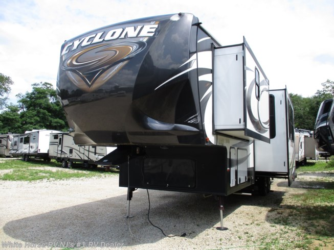 Used 2015 Heartland Cyclone CY 3110 Triple Slide, Rear 10' Garage available in Williamstown, New Jersey