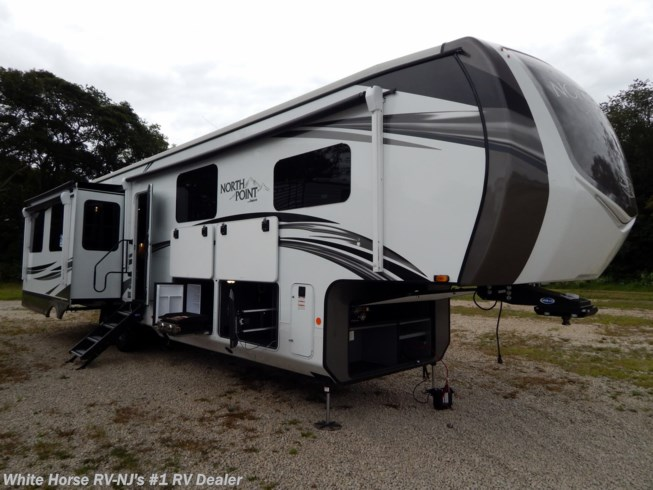 New 2021 Jayco North Point 377RLBH 2-BdRM Quad Slide, Mid Bunk, Front King available in Williamstown, New Jersey