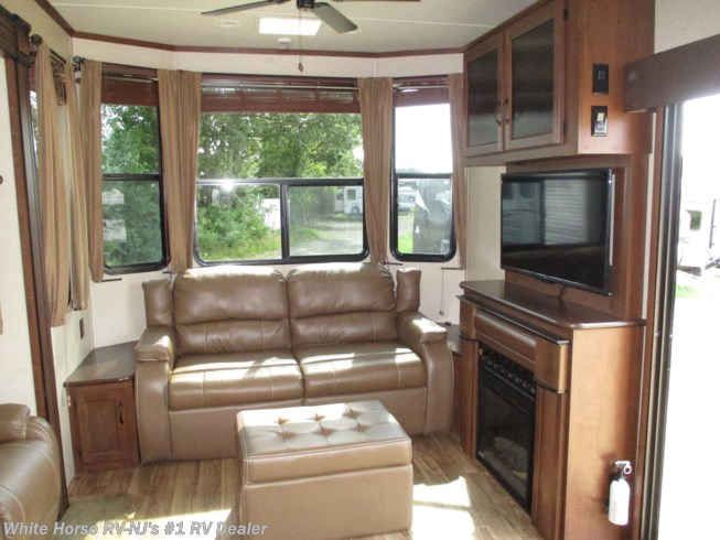 Used 2015 Jayco Bungalow 40FSDS Front Living Area Double Slide available in Williamstown, New Jersey