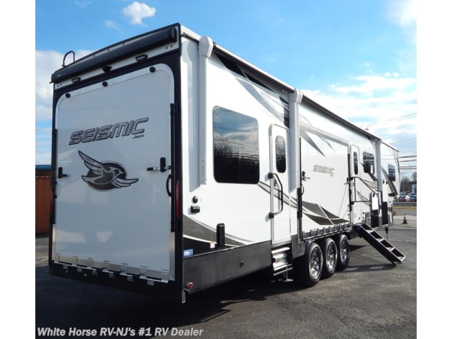 "New 2021 Jayco Seismic 4113 Triple Slide with 12'6"" Rear Garage available in Williamstown, New Jersey"