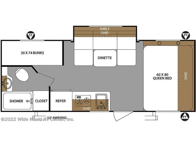 2019 Forest River Surveyor Legend 19BHLE floorplan image