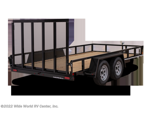 2021 CAM Superline STP8216TATB 7 x 14 Tube Top Utility Trailer - New Landscape For Sale by Wide World RV Center, Inc. in Wilkes-Barre, Pennsylvania