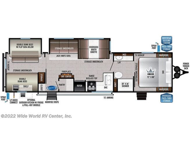 Floorplan of 2021 East to West Della Terra 312BH