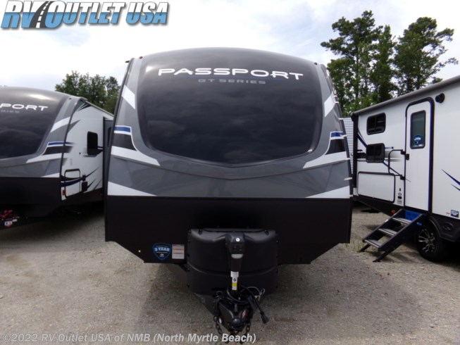 2020 Keystone Passport GT 3351BH - New Travel Trailer For Sale by RV Outlet USA in Ringgold, Virginia features 50 Amp Service, Air Conditioning, Alloy Wheels, Aluminum Entrance Steps, AM/FM/CD, Auxiliary Battery, Bath & 1/2, Battery Charger, Black Tank Flush, Bunk Beds, Bunkhouse, Cable Prepped, CO Detector, Converter, Dinette Bed, DVD Player, Enclosed Underbelly, Enclosed Water Tank, Exterior Speakers, External Shower, Fire Extinguisher, Furnace, Glass Shower Door, Heated Underbelly, Heated Water Tank, Hide-A-Bed, LED HDTV, LED Lights, LP Detector, Medicine Cabinet, Microwave, Outside Kitchen, Oven, Overhead Cabinetry, Pantry, Pass Thru Storage, Pleated Shades, Power Awning, Power Hitch Jack, Propane, Queen Bed, Queen Mattress, Refrigerator, Roof Vent, Roof Vents, Satellite Prepped, Screen Door, Shower, Skylight, Smoke Detector, Solar Prep, Spare Tire Kit, Stabilizer Jacks, Stove Top Burner, Tinted Windows, TV, TV Antenna, U-Shaped Dinette, Water Heater