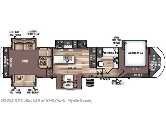 Floorplan of 2017 Forest River Wildwood Heritage Glen 372RD