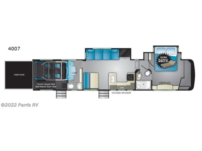 2021 Heartland Cyclone 4007 - New Toy Hauler For Sale by Parris RV in Murray, Utah features Slideout