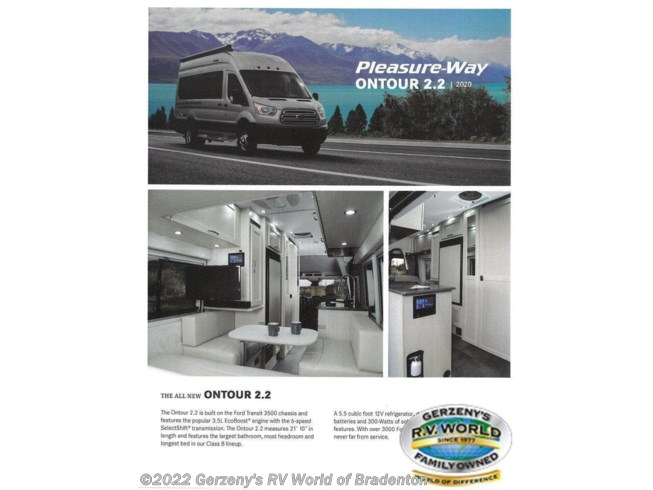 New 2020 Pleasure-Way Ontour available in Bradenton, Florida