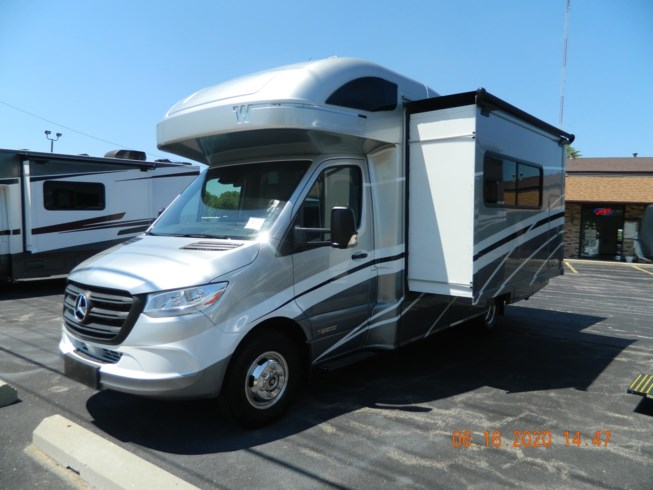 2020 Winnebago View 24J - New Class C For Sale by Winnebago Motor Homes in Rockford, Illinois features Air Conditioning, Auxiliary Battery, Awning, Backup Monitor, CO Detector, Convection Microwave, Exterior Speakers, External Shower, Generator, GPS Navigation, Hitch, Inverter, Ladder, LP Detector, Medicine Cabinet, Power Entrance Step, Power Roof Vent, Refrigerator, Roof Vents, Satellite Radio, Shower, Skylight, Slideout, Smoke Detector, Solar Panels, Spare Tire Kit, Stove, Stove Top Burner, Surround Sound System, Toilet, TV, TV Antenna, U-Shaped Dinette, Water Heater